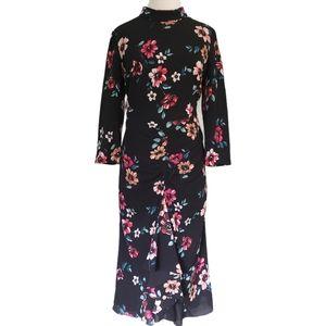 Eliza J Floral Ruched Semi Formal Dress Size 14